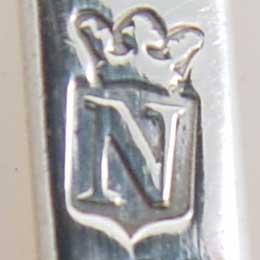 jaarletter N Dordrecht zilver