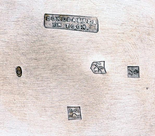 Zilvermerken van Bonebakker en Pieter Pieterse