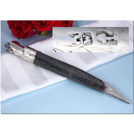 Zilver mes in schede gemaakt in Alkmaar in 1781 bij Zilverkeuren Zilver.nl