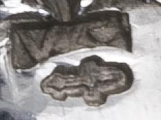 foto van het oude zilver zwaardje gebruikt van 1814 - 1906