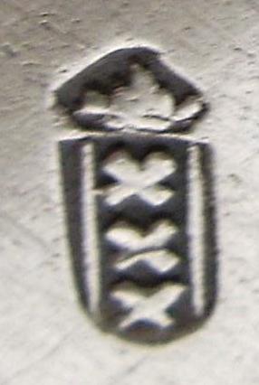 Stadskeur zilver uit Amsterdam