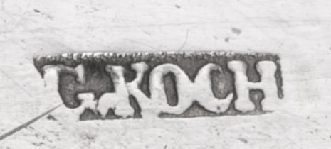 meesterteken zilver van Gottfried Koch uit Bremen