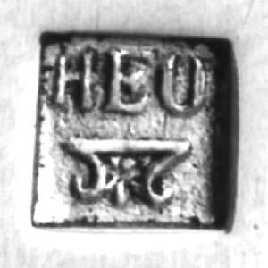 meesterteken zilversmid H.E. Oving Bz te groningen in zilverkeuren database