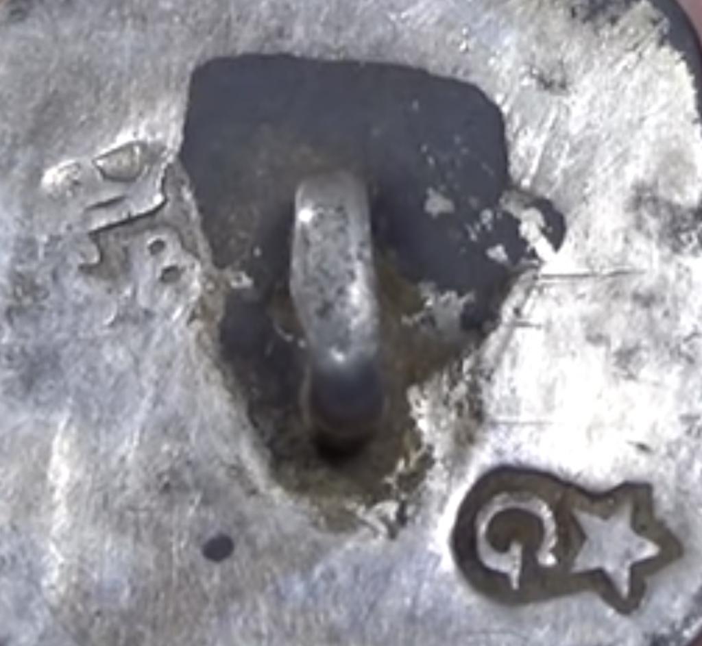 Klein zilverkeur G met ster en een meesterteken uit Maastricht 18e eeuw